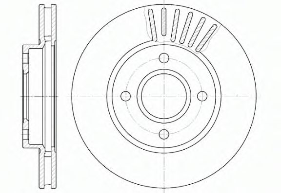 Диск тормозной FORD MONDEO, SCORPIO передн., вент. (пр-во REMSA)                                      арт. 621110