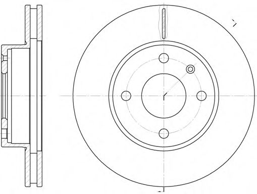 Диск тормозной FORD, передн., вент. (пр-во REMSA)                                                     арт. 621510