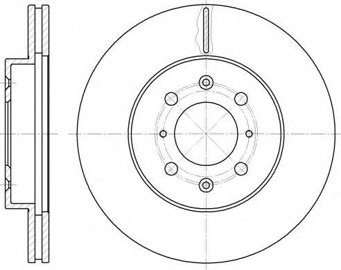 Диск тормозной HONDA CIVIC передн., вент. (пр-во REMSA)                                               арт. 622410