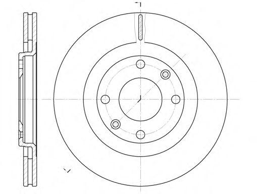Диск тормозной CITROEN, PEUGEOT передн., вент. (пр-во REMSA)                                          арт. 624010