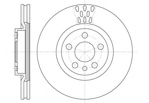 Диск тормозной CITROEN EVASION 06/94-07/02 JUMPY 06/94- передн. (пр-во REMSA)                         арт. 630511