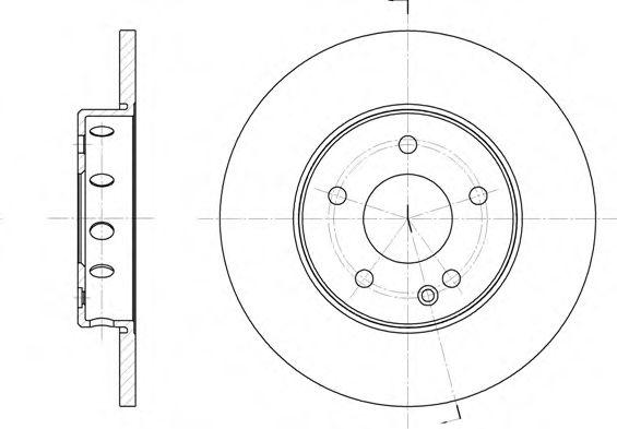Диск тормозной MB C-CLASS передн. (пр-во REMSA)                                                      REMSA арт. 631000