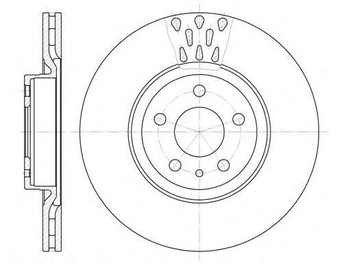 Диск тормозной ALFA ROMEO FIAT LANCIA передн. (пр-во REMSA)                                           арт. 631610