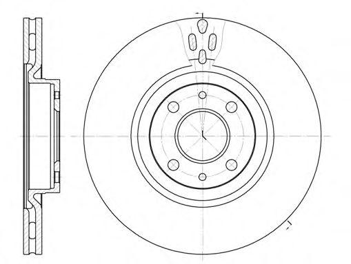 Диск тормозной ALFA ROMEO 155 передн., вент. (пр-во REMSA)                                           REMSA 631611