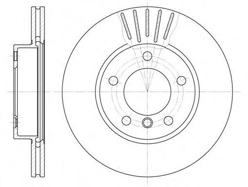 Диск тормозной BMW передн., вент. (пр-во REMSA)                                                       арт. 632410