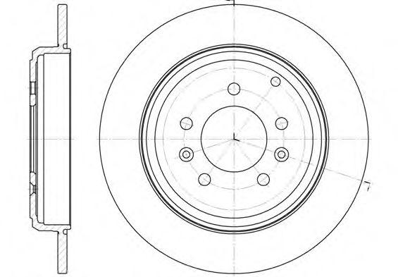 Диск тормозной PEUGEOT 605 6/89-9/99 задн. (пр-во REMSA)                                             REMSA арт. 633000
