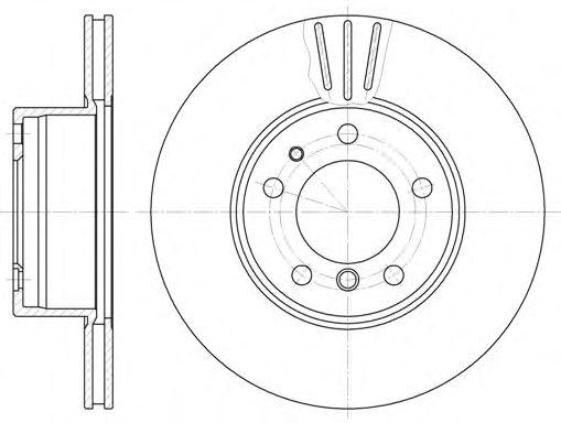 Диск тормозной BMW 5 (E28), 5 (E34), 7 (E32) передн., вент. (пр-во REMSA)                             арт. 634810