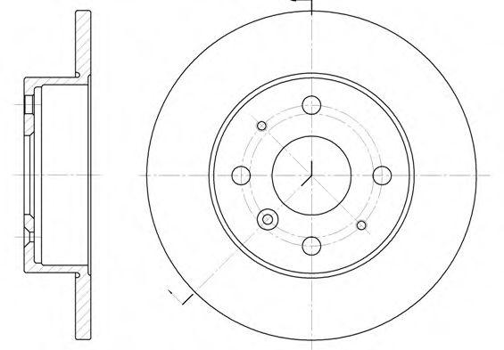 Диск тормозной (пр-во REMSA)                                                                          арт. 636300