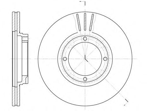 Тормозной диск  арт. 637410