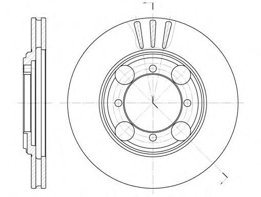 Тормозной диск  арт. 637510