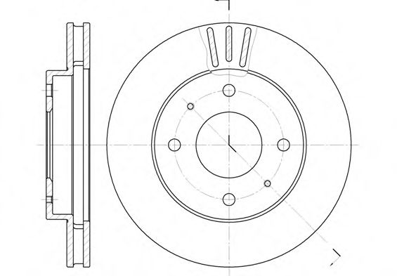 Диск тормозной KIA SPORTAGE передн., вент. (пр-во REMSA)                                              арт. 639411