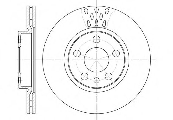 Диск тормозной CITROEN, FIAT, PEUGEOT, передн., вент. (пр-во REMSA)                                   арт. 644211