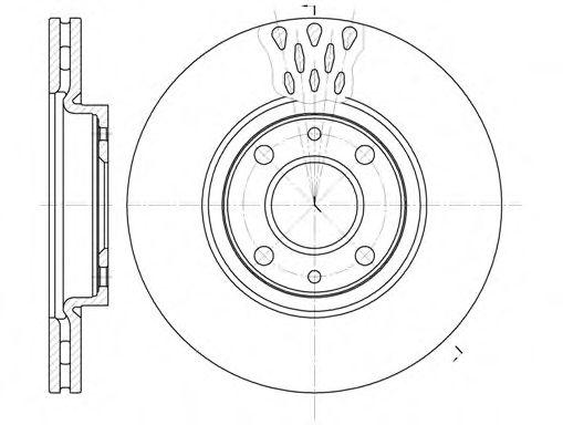 Диск тормозной FIAT LINEA, PUNTO передн., вент. (пр-во REMSA)                                         арт. 644310
