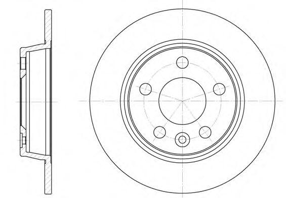 Диск тормозной FORD, SEAT, VW, задн. (пр-во REMSA)                                                    арт. 645300