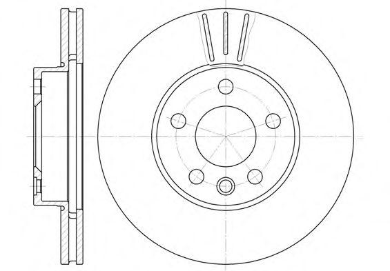 Диск тормозной FORD, SEAT, VW, передн., вент. (пр-во REMSA)                                           арт. 649610