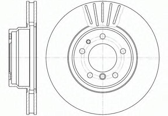 Диск тормозной BMW, вент. (пр-во REMSA)                                                               арт. 650910