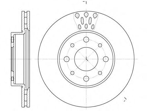 Диск тормозной (пр-во REMSA)                                                                          арт. 651710