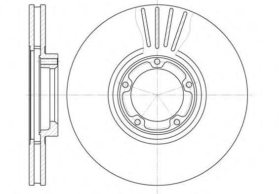 Диск тормозной FORD TRANSIT, передн., вент. (пр-во REMSA)                                             арт. 651810