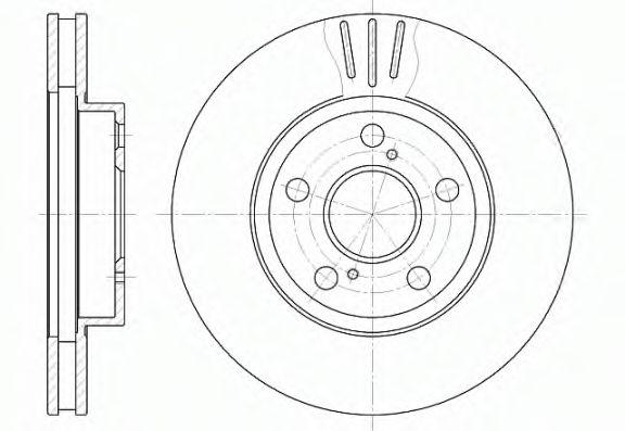 Диск тормозной (пр-во REMSA)                                                                         REMSA 654010