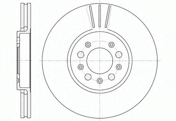 Диск тормозной AUDI A3, SEAT TOLEDO, SKODA FABIA, OCTAVIA, VW передн., вент. (пр-во REMSA)           REMSA 654410