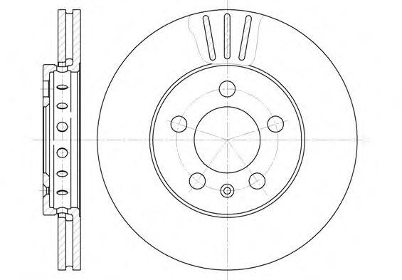 Диск тормозной AUDI A3, SEAT CORDOBA, IBIZA, SKODA,VW, передн., вент. (пр-во REMSA)                  REMSA 654510
