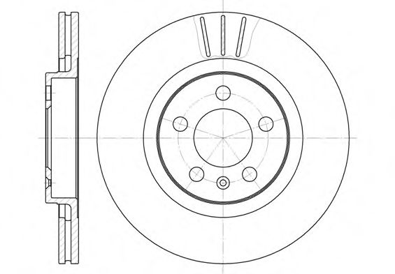 Диск тормозной AUDI A3, SEAT LEON, TOLEDO, SKODA, VW, вент. (пр-во REMSA)                            REMSA 654610