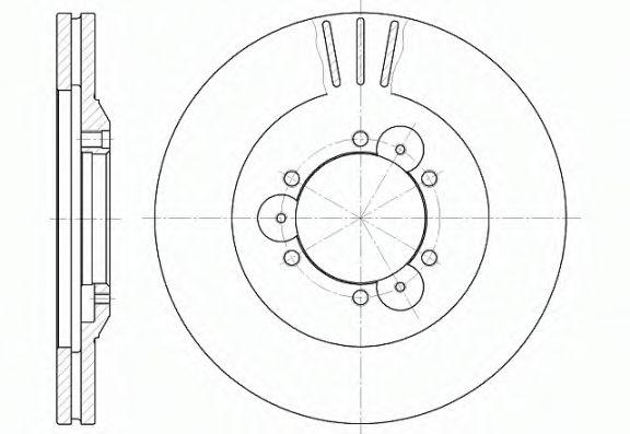 Диск тормозной OPEL FRONTERA передн., вент. (пр-во REMSA)                                             арт. 656010