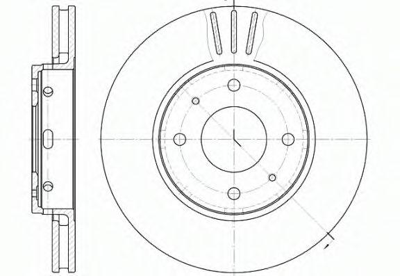 Диск гальмівний перед. Volvo S40 V40 -03 REMSA 658510