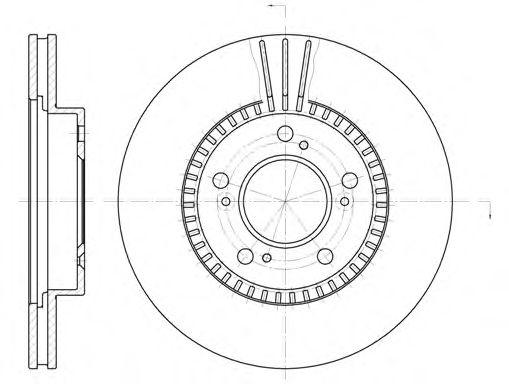 Диск тормозной HONDA, MAZDA передн., вент. (пр-во REMSA)                                              арт. 658610