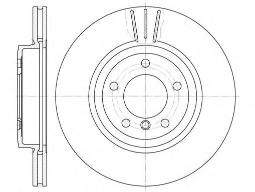 Диск тормозной BMW 3 E46 330 D 99- передн. (пр-во REMSA)                                              арт. 659810
