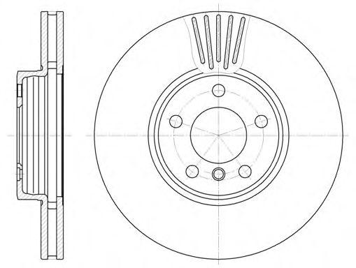 Диск тормозной BMW X3, X5 передн., вент. (пр-во REMSA)                                                арт. 660010
