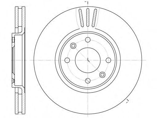 Диск гальмівний передній вентильований REMSA 660410