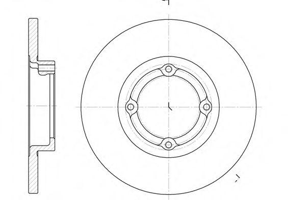 Диск тормозной DAEWOO/CHEVROLET MATIZ 1.0I 03.01- передн. (пр-во REMSA)                               арт. 660600