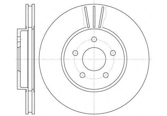 Диск тормозной FORD MONDEO передн., вент. (пр-во REMSA)                                               арт. 660710