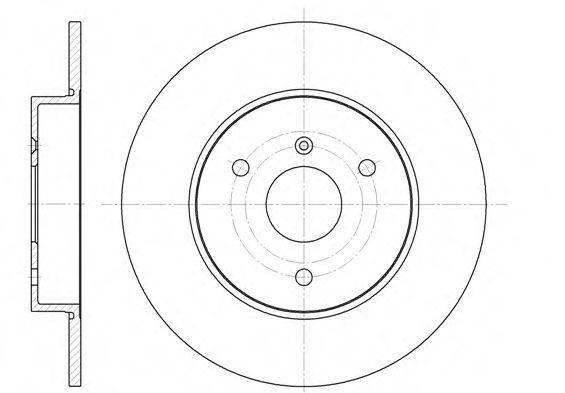 Диск тормозной SMART 01- передн. (пр-во REMSA)                                                       REMSA арт. 661700