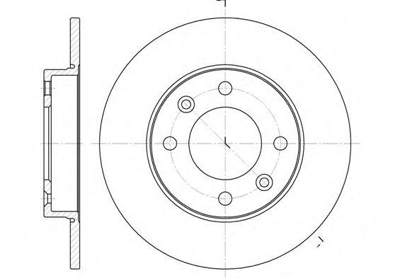 Диск тормозной CITROEN C3, C4, PEUGEOT 307 (пр-во REMSA)                                              арт. 663000