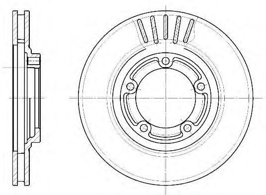 Диск тормозной MITSUBISHI L300 передн., вент. (пр-во REMSA)                                           арт. 663610