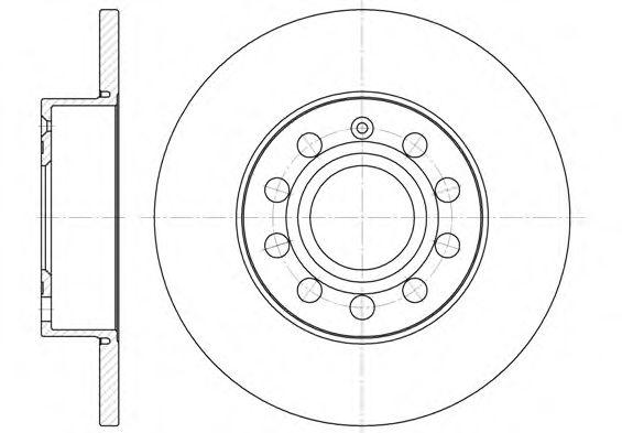 (260mm) Диск гальмівний зад. Scoda Octavia 04-/Caddy 04-/Golf 03-/Jetta 05-/Touran 03- REMSA 665000