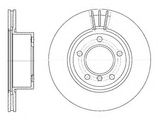 Диск тормозной BMW передн., вент. (пр-во REMSA)                                                       арт. 665210