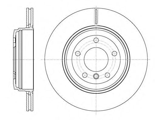 Диск тормозной BMW 5 Series (E60)(E61) (07/03-) задн. (пр-во REMSA)                                   арт. 665410