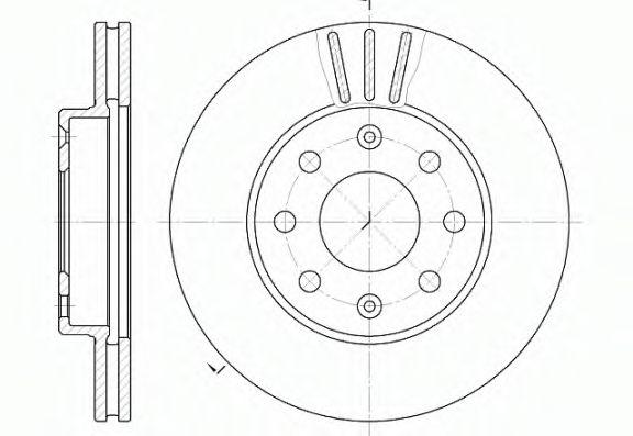 Диск тормозной CHEVROLET AVEO передн., вент. (пр-во REMSA)                                            арт. 665510