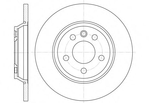 Диск тормозной FORD GALAXY (WGR)(11/95-04/06) задн. (пр-во REMSA)                                     арт. 665900