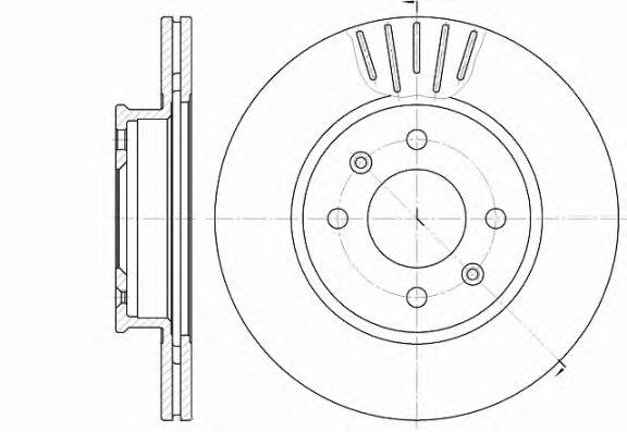 Диск тормозной HYUNDAI GETZ (TB) (09/02-08/08) передн. (пр-во REMSA)                                  арт. 666610