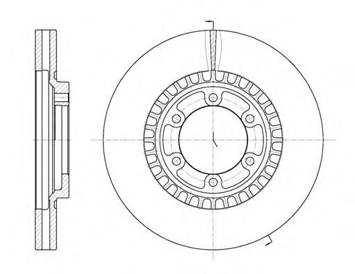 Тормозной диск  арт. 666910