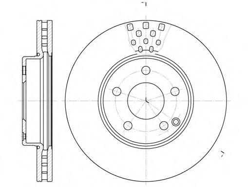 Диск гальмівний перед. MB W211 2.0/2.4/2.2CDI/2.7CDI 02- REMSA 667610