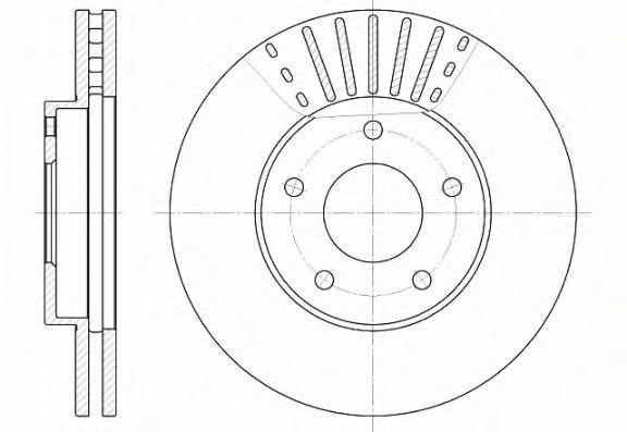 Диск гальмівний REMSA 668110