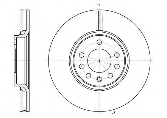 Диск тормозной OPEL SAAB SIGNUM 3.0IV6, VECTRA C 3.2IV6, 3.0CDTI передн. (пр-во REMSA)                арт. 668710