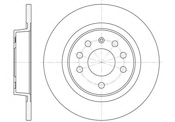 Диск тормозной FIAT, OPEL SIGNUM, SAAB, задн. (пр-во REMSA)                                           арт. 668800