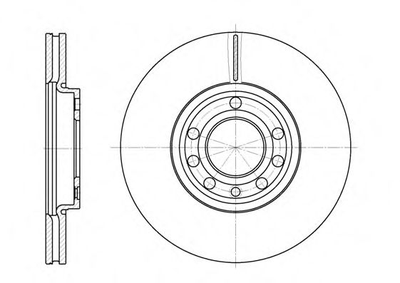 Диск тормозной FIAT, OPEL, SAAB, передн., вент. (пр-во REMSA)                                         арт. 668910