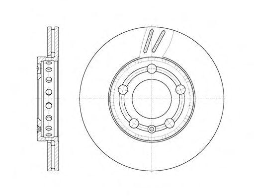 Тормозной диск REMSA 670910